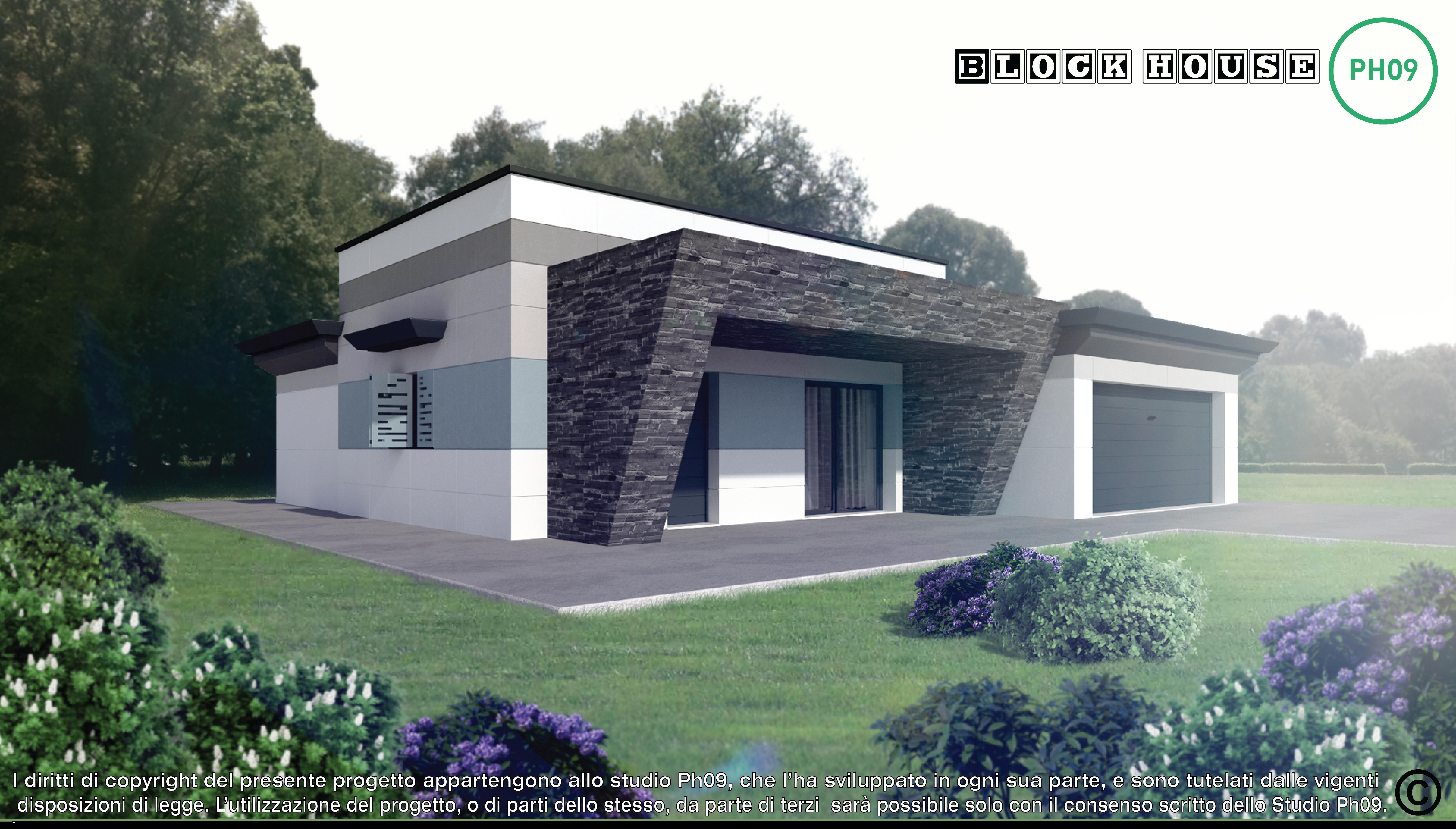 01-3D BLOCK HOUSE