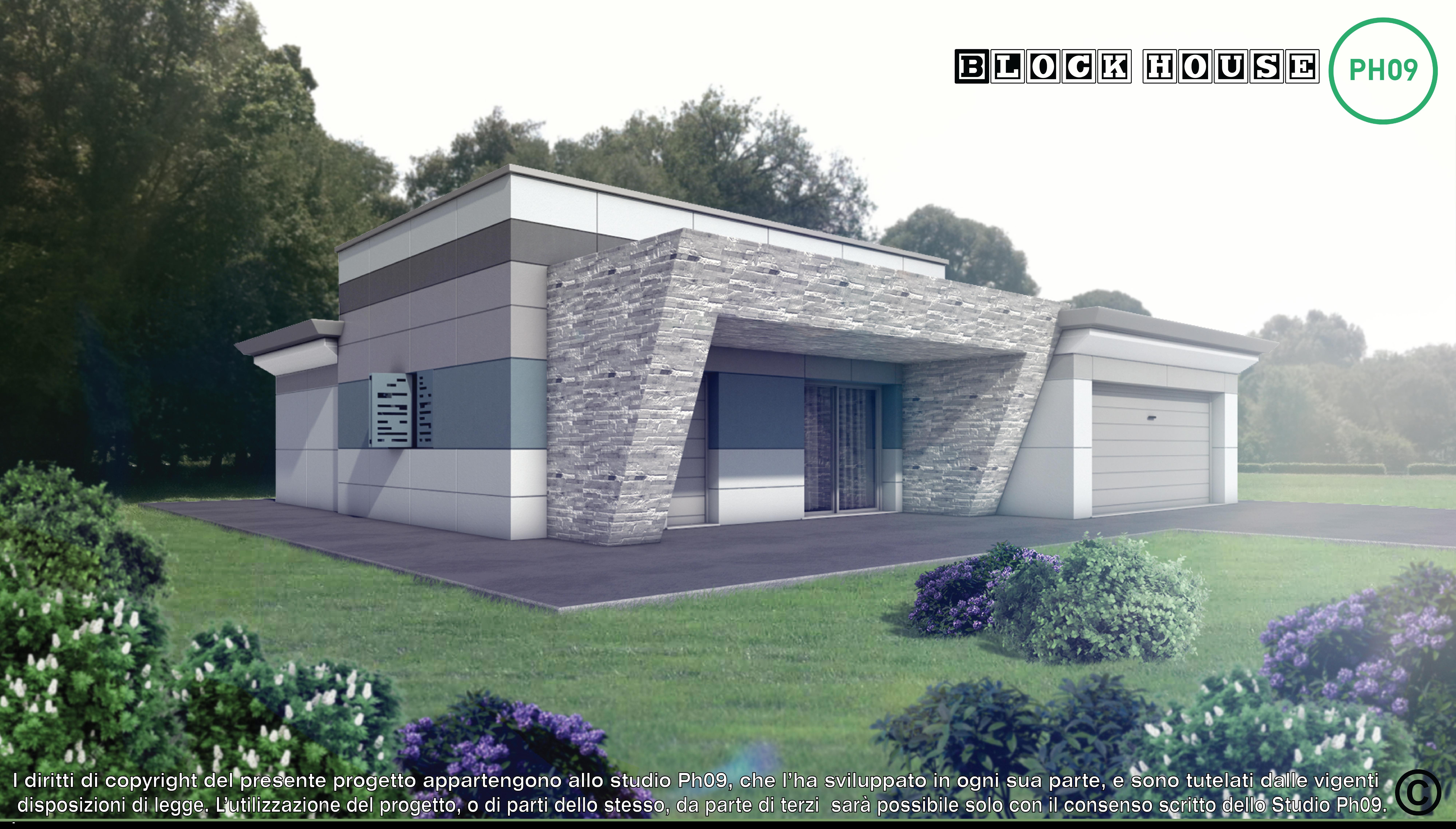 01-variante bianco-3D BLOCK HOUSE