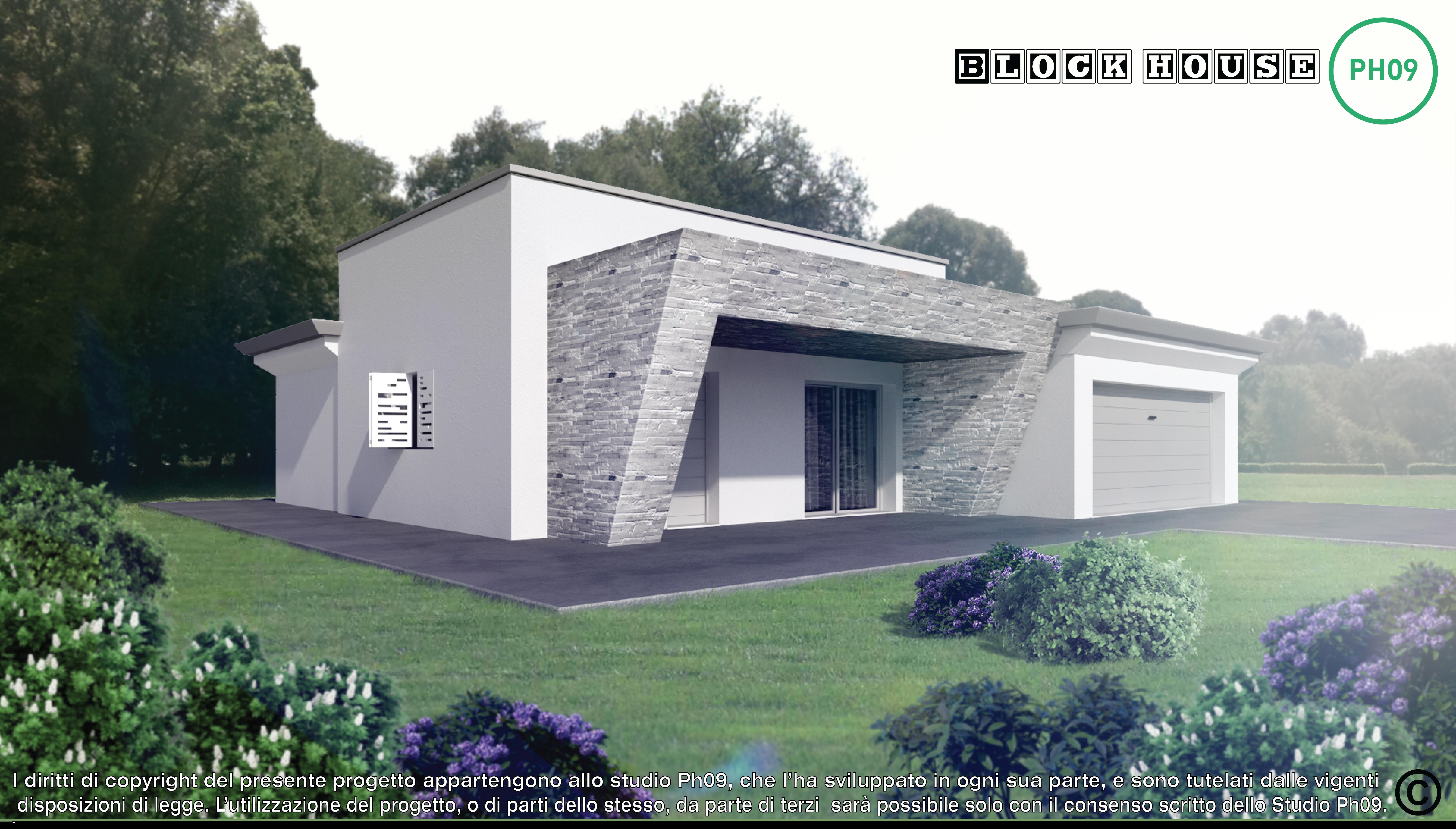 01-variante total bianco-3D BLOCK HOUSE